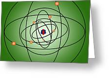 Atomic Structure Model Greeting Card by Science Source