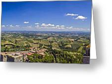 Atop The Bell Tower In San Gimignano Greeting Card