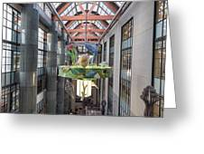 Atrium Of The Central Library In Los Angeles Greeting Card