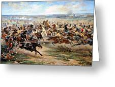 Attack Of The Horse Regiment Greeting Card by Victor Mazurovsky
