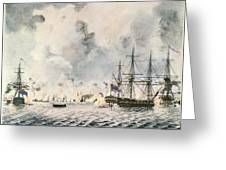 Attack On Fort Mifflin, 1777 Greeting Card