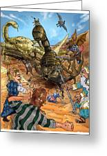 Attacked By Scorpions Greeting Card