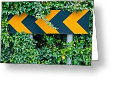 Attention Road Sign  Greeting Card