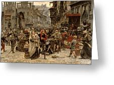 Atterdag Holding Visby To Ransom 1361 Greeting Card
