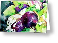 Aubergine Mirage Greeting Card