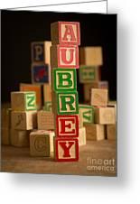 Aubrey - Alphabet Blocks Greeting Card