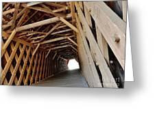 Auchumpkee Creek Covered Bridge Inside View Greeting Card