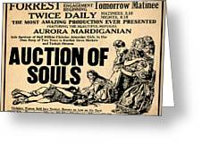 Auction Of Souls Greeting Card
