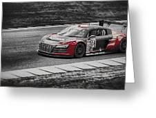 Audacious Audi R8 Greeting Card
