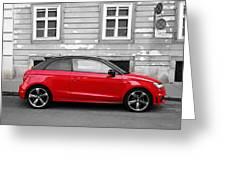 Audi A1 Car Greeting Card