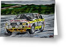 Audi Quattro Greeting Card
