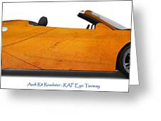 Audi R8 Raf Eye Taxiway Greeting Card