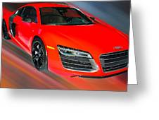 Audi R8 V10 Plus Quattro Coupe 2014 Greeting Card