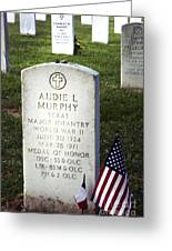 Audie Murphy - Most Decorated Greeting Card