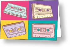 Audio Cassettes Greeting Card