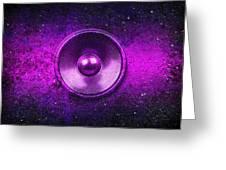 Audio Purple Greeting Card