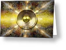 Audio Wall Burst 3 Greeting Card