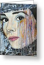 Audrey Hepburn-abstract Greeting Card