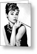 Audrey Hepburn Artwork Greeting Card