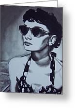 Audrey Hepburn Greeting Card by Lori Keilwitz