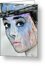 Audrey Hepburn - Painting Greeting Card