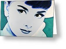 Audrey Hepburn Pop Art Painting Greeting Card