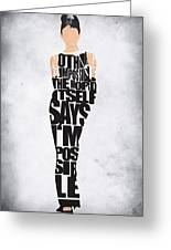 Audrey Hepburn Typography Poster Greeting Card