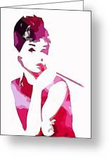 Audrey Pop Art Greeting Card