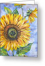 Audrey's Sunflower Greeting Card