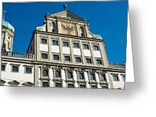 Augsburg Townhall - Rathaus Greeting Card