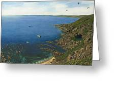 August Afternoon At Whitsand Bay Cornwall Greeting Card