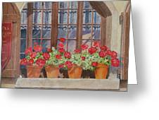 August At The Auberge  Greeting Card