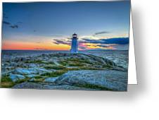 August Sunset At Peggy's Cove 2 Greeting Card
