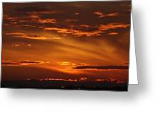 August Sunset Greeting Card