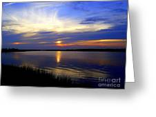 August Sunset Reflection Greeting Card
