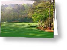 Augusta Hole 12 Greeting Card by Bo  Watson