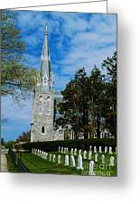 Augustinian Cemetery And Church Greeting Card