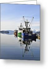 Auke Bay Reflection Greeting Card