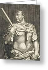 Aullus Vitellius Emperor Of Rome Greeting Card by Titian