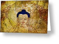 Aum Buddha Greeting Card by Tim Gainey