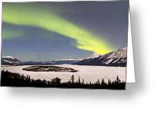 Aurora Borealis Over Bove Island Greeting Card