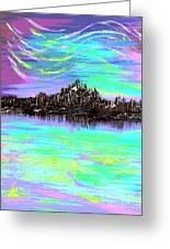 Aurora Borealis Poster Greeting Card
