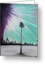 Aurora-oil Painting Greeting Card by Rejeena Niaz