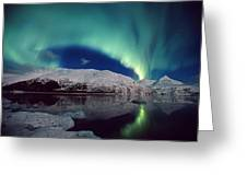Aurora Over Portage Greeting Card