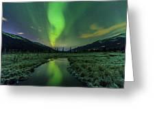 Aurora Valley Greeting Card