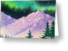 Aurora Winter In Square Greeting Card