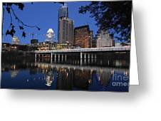 Aus Downtown Reflcetions Greeting Card