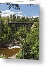 Ausable Chasm Bridge Greeting Card