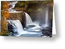 Ausable Chasm Waterfall Greeting Card
