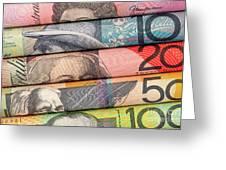Aussie Dollars 01 Greeting Card